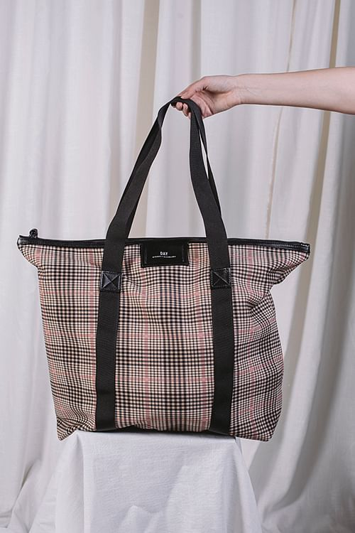 Gweneth Tartan Bag Moonlight Beige