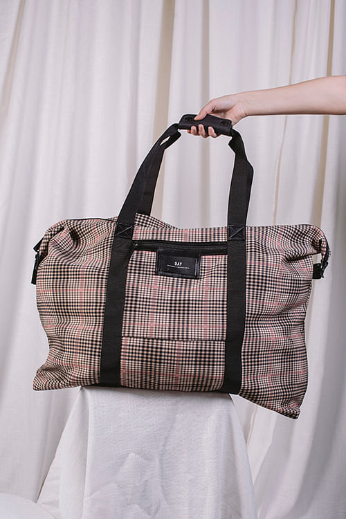 Day et Gweneth Tartan Weekend Moonlight Beige bag