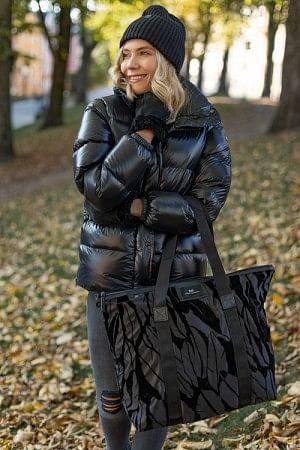 Gweneth F Feather Bag Black