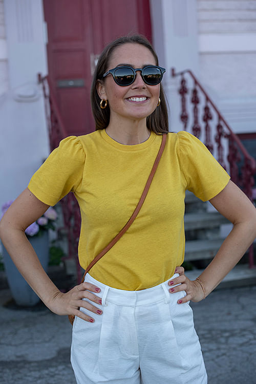 DAY Birger et Mikkelsen x Annabel Carina T-Shirt Ceylon Yellow t-skjorte