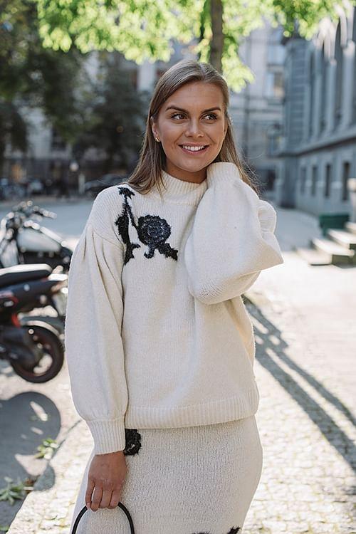 DAY Birger et Mikkelsen Evening Sweater Butter genser