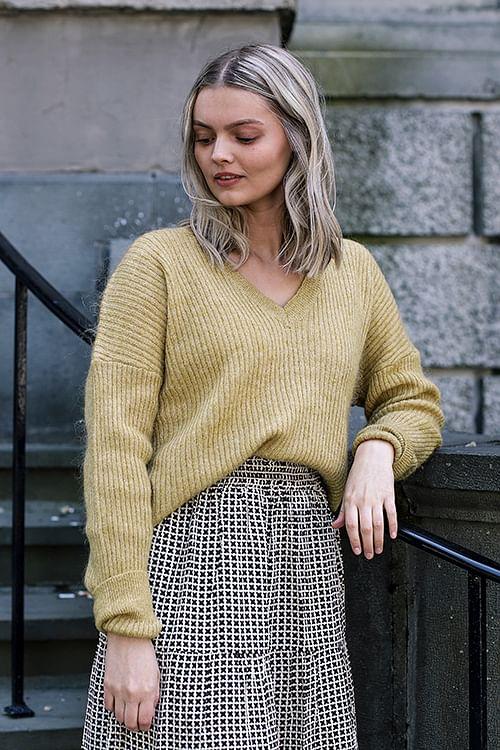 DAY Birger et Mikkelsen Essence Sweater Tumeric genser