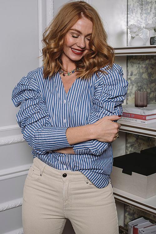 DAY Birger et Mikkelsen Springtime Blouse Navy Blazer skjorte