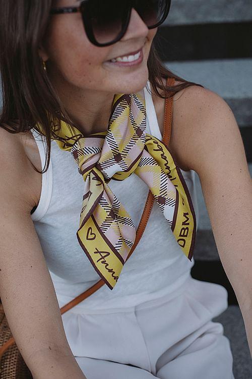 Tie Scarf Ceylon Yellow