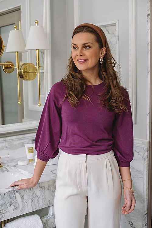Day Birger Et Mikkelsen Whitney 3/4 Sleeve Iris T-skjorte