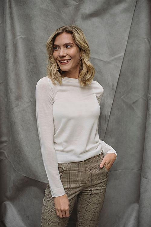DAY Birger et Mikkelsen Whitney Ls O-Neck Ivory Shade genser
