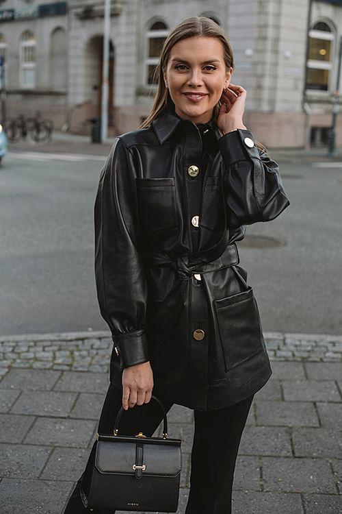 DAY Birger et Mikkelsen Scilla Leather Jacket Black skinnjakke
