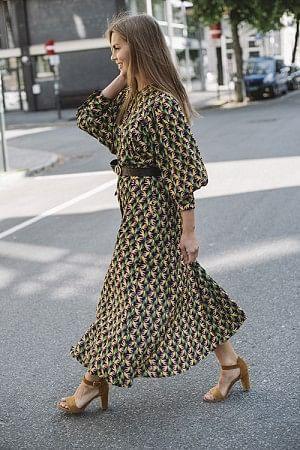 Bahce Dress Golden Palm