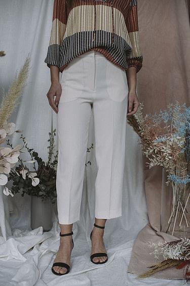 Classic Gabardine Pants Ivory Shade