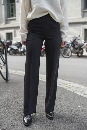 Classic Gabardine Pants Long Black