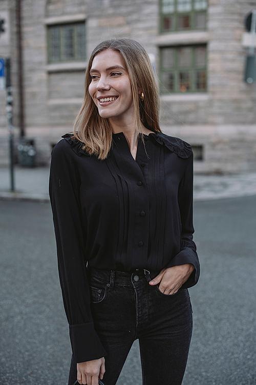 Designers Remix Eliza Collar Shirt Black skjorte