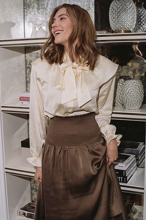 Designers Remix Lauren Blouse Cream bluse