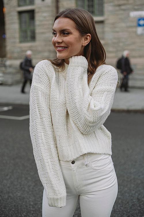Designers Remix Vidal Sweater Cream genser