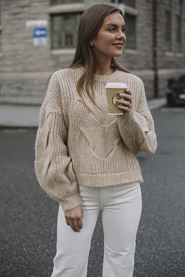 Franki Cable Sweater Camel