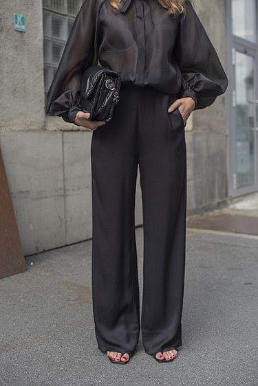 Frigg Wide Pants Black