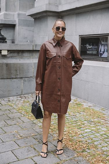 Marie Shirt Dress Brown