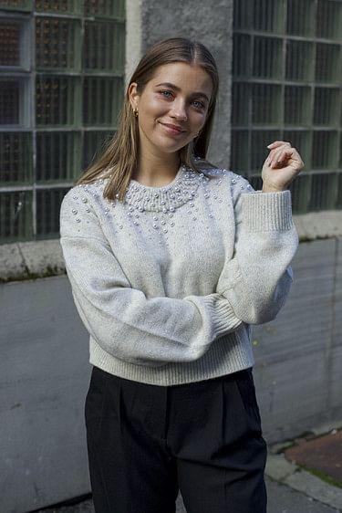 Silvia Pearl Sweater Oatmeal
