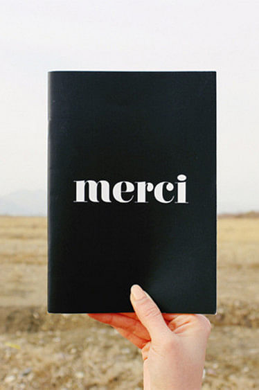 Double Sided Notebook Merci