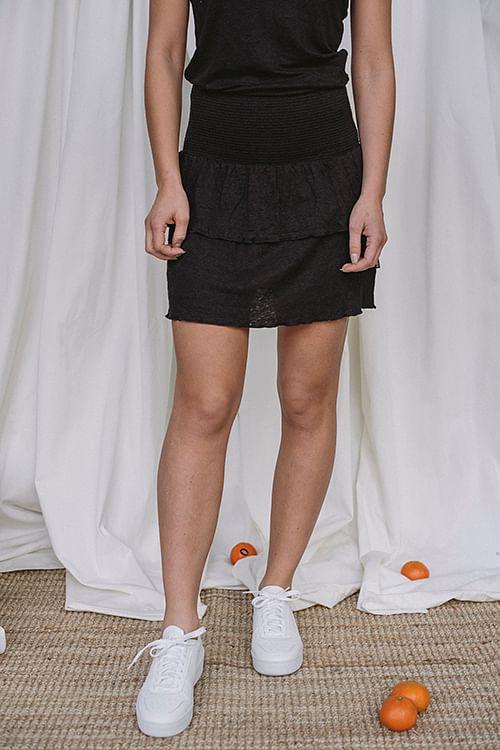 Lisbet Linen Skirt Black