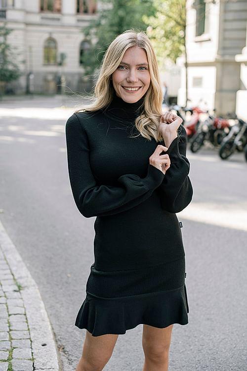 Ella&il Rosie Merino Sweater Black genser