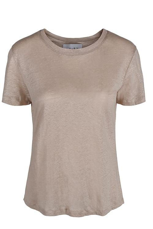 Ella&il Jane Linen Tee Beige, T-skjorte