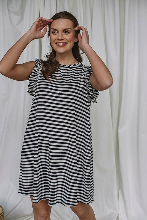 ella&il pippi linen dress navy stripes kjole