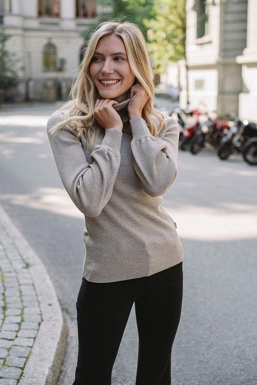 Ella&il Rosie Merino Sweater Beige genser