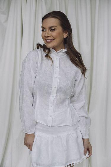 Elena Linen Shirt White