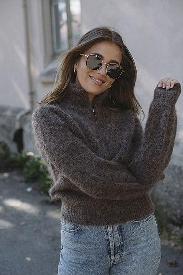 Lita Mohair Sweater Brown