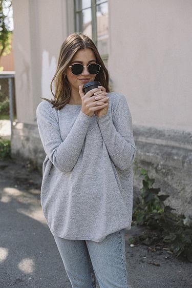 Luca Wool Sweater Huskey Grey