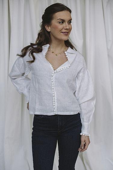 Taj Linen Shirt White