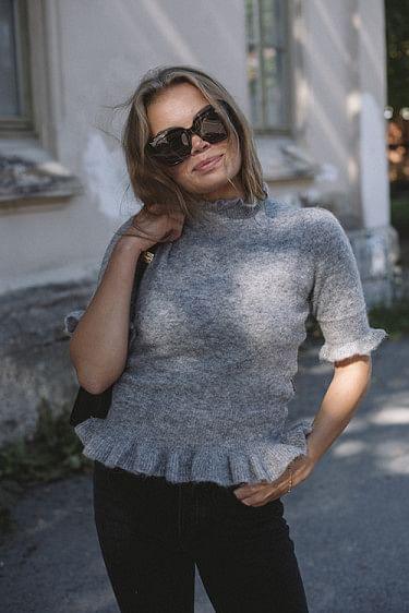 Villa Alpaca Sweater Huskey Grey