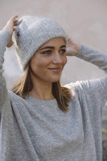 Silje Mohair Hat Grey