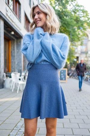 Triny Merino Skirt Blue