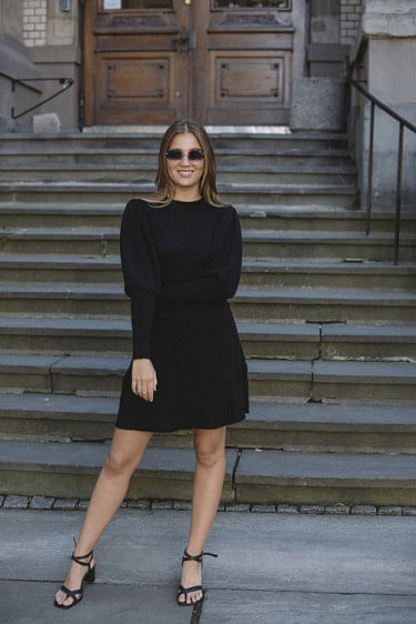 Una Wool Dress Black