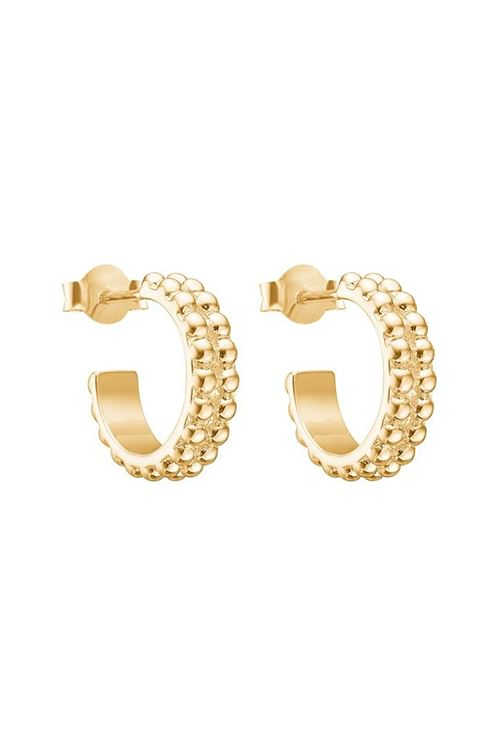 Enamel Bubble Loop Hoops Gold