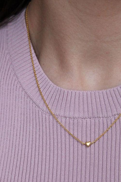Enamel Copenhagen Little Love Necklace Gold smykke
