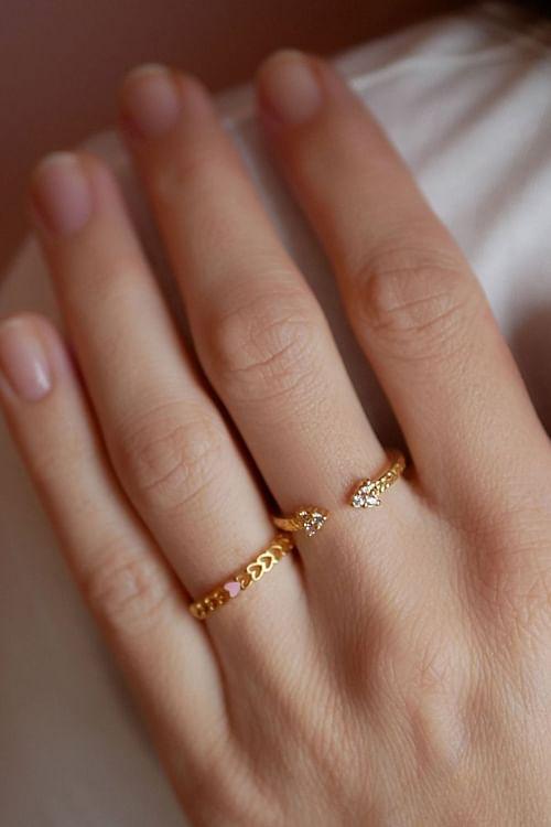 Enamel Copenhagen Lovely Ring Gold