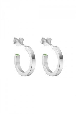 Plain Loop Hoops Silver