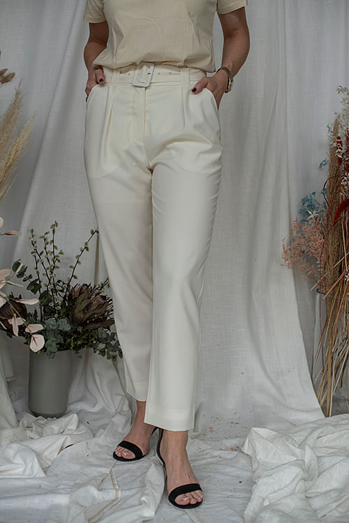 Envelope1976 Pfeiffer Pant Cream dressbukse