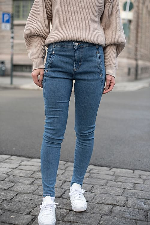 Fiveunits Jolie 595 Mid Blue Recycled jeans