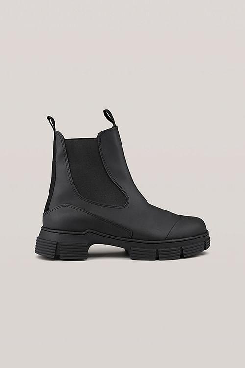 Ganni Recycled Rubber City Boot Black støvler