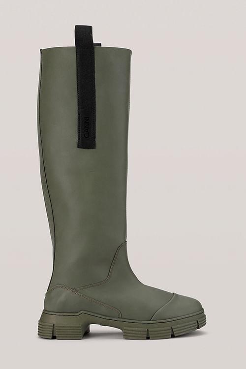 Ganni Recycled Rubber Country Boot Kalamata støvler