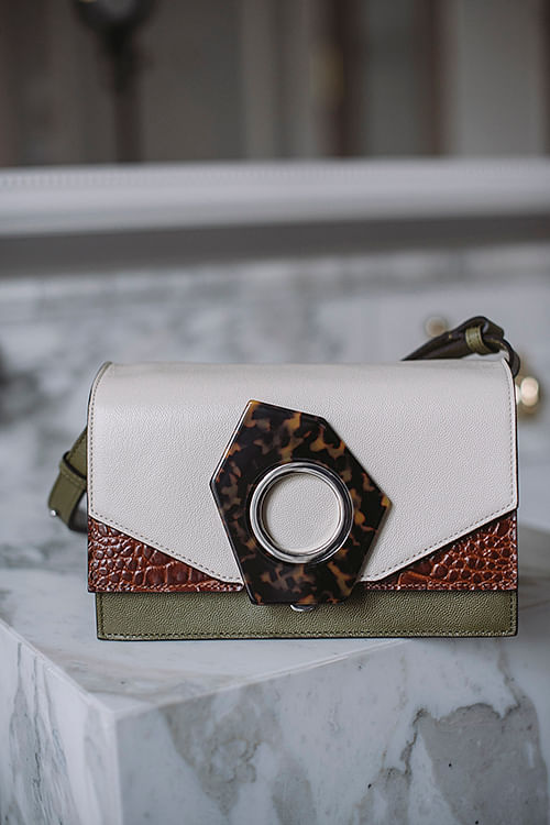 Crossbody Leather Bag Multicolor