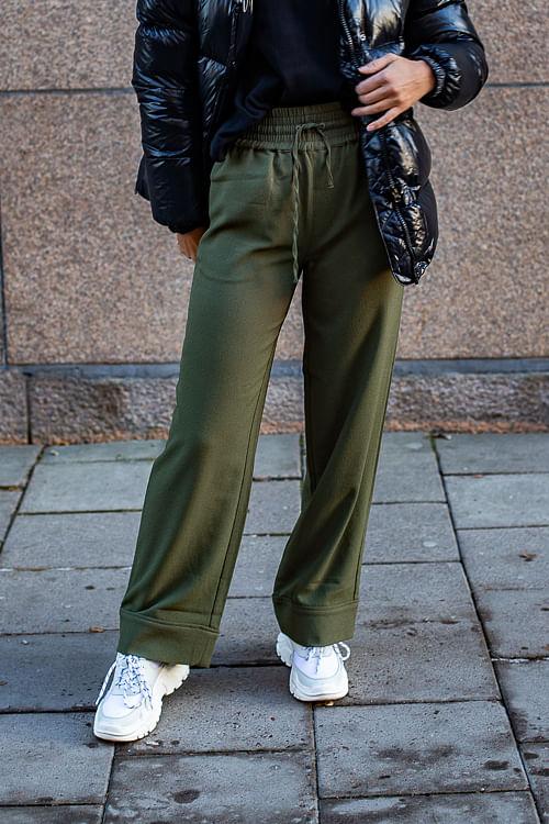 GANNI Heavy Crepe Wide Pants Talamata bukser