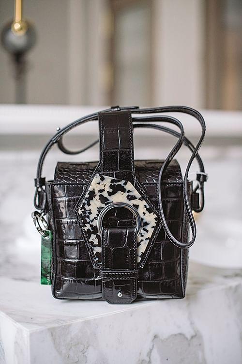 GANNI Micro Tote Bag Black veske