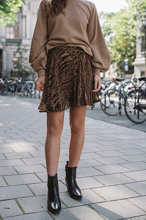 Printed Georgette Skirt Tiger