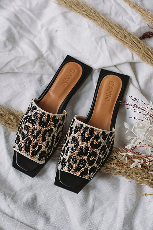 Slipper Sandals Leopard