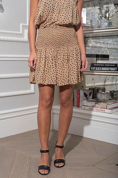 Printed Georgette Smock Skirt Tannin
