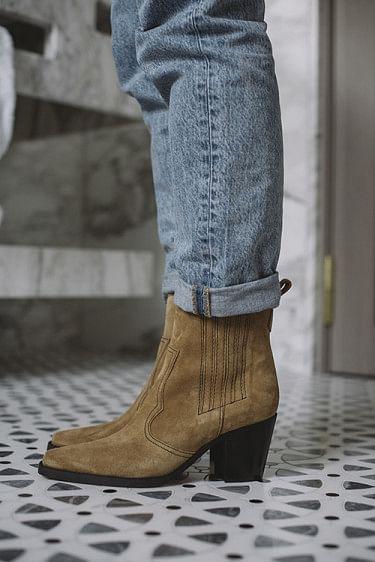 Callie Western Boots Tannin
